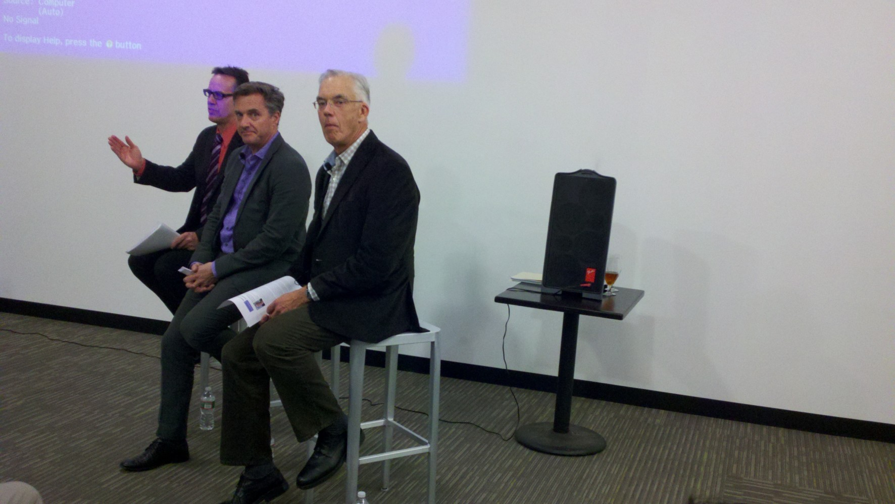 left-to-right : Execs  from EMD Serono, Novartis and Lab Central