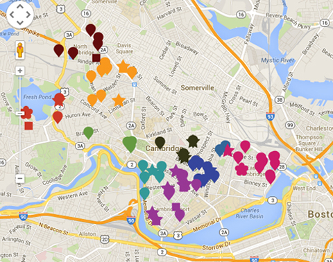 Cambridge public arts map